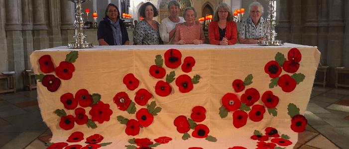St Edmundsbury Cathedral Poppy Drape