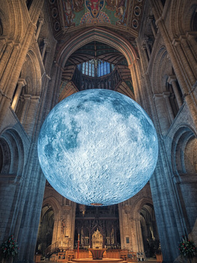 Rochester Cathedral Kent Museum of the Moon 2020