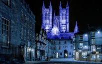 image from Lincoln Cathedral Turns Blue