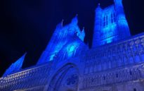 image from Lincoln Lights up for Holy Week