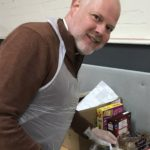 Pic of the Dean of St Edmundsbury, the Very Revd Joe Hawes at his local foodbank