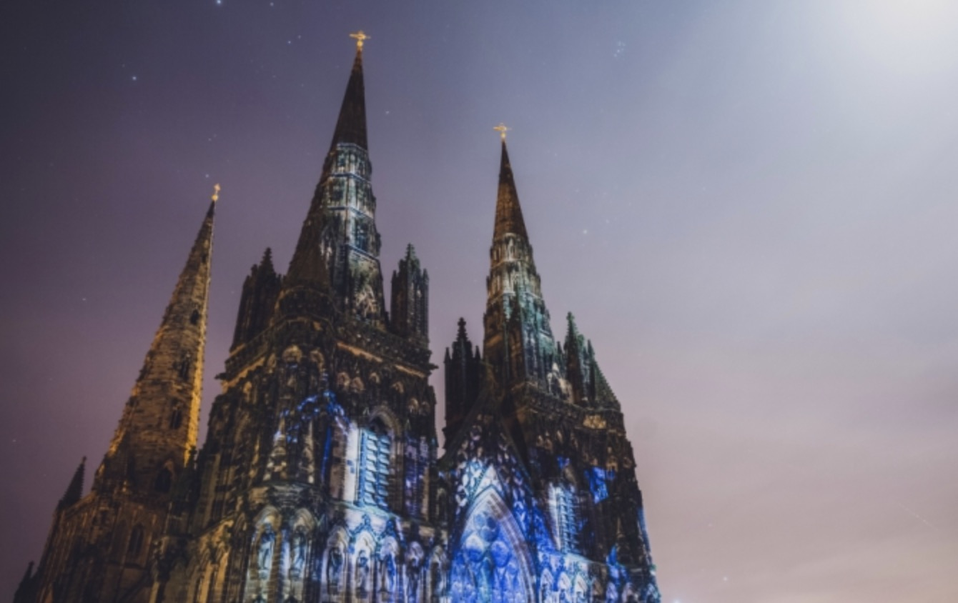 Lichfield Cathedrals at Night