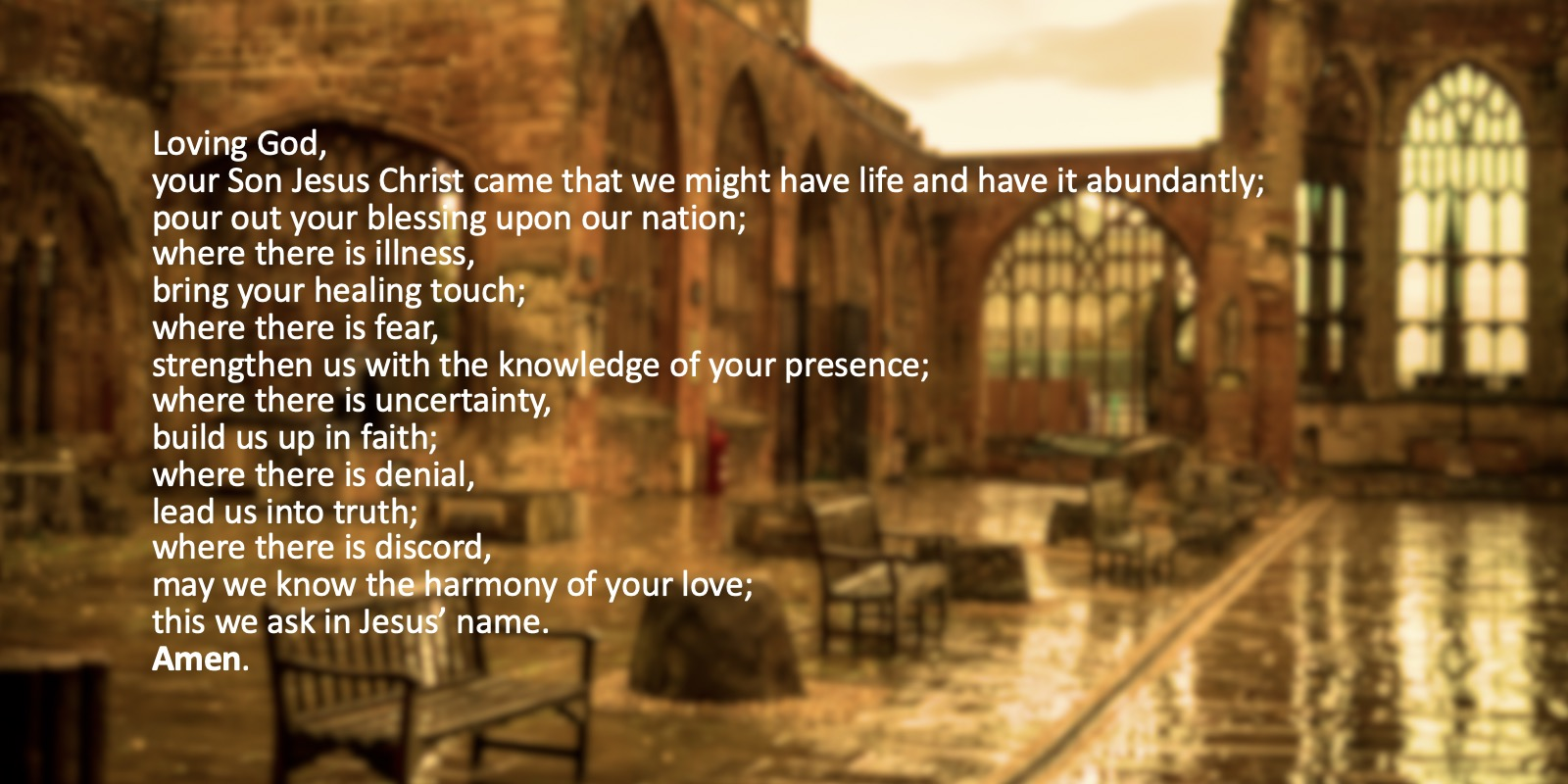 Prayer for the Nation Further COVID 19 Restrictions