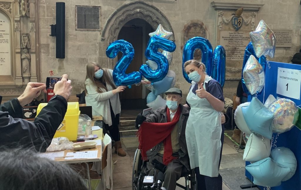 Salisbury Cathedral Vaccination Centre 25,000
