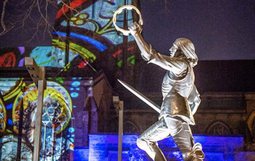 """Leicester Cathedral brings hope to Leicestershire with """"LIGHT"""" son et Lumiere."""