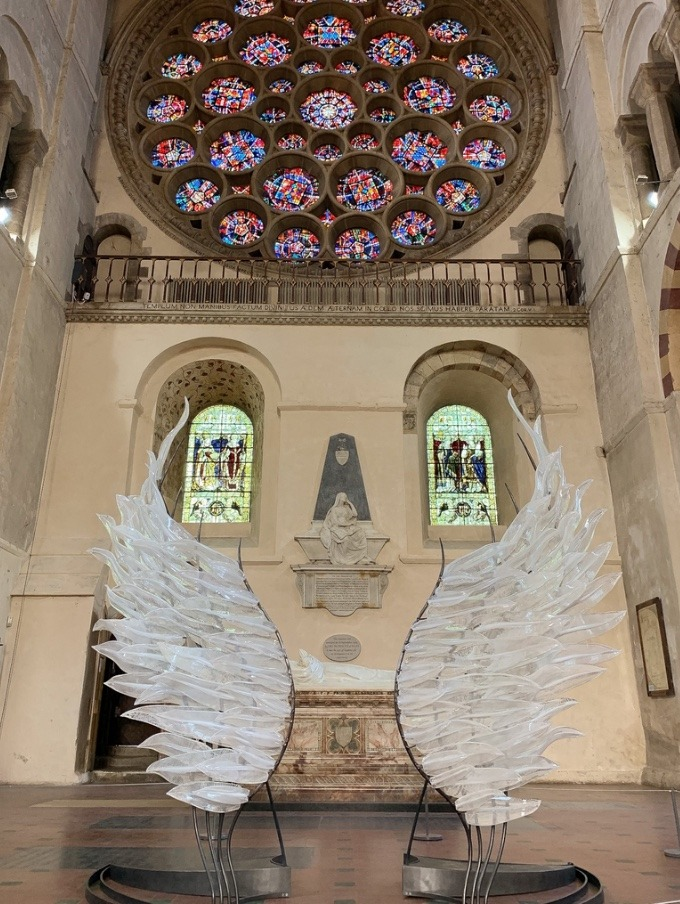 Solace | Glass Wings: A Reflective Installation St Albans Cathedral