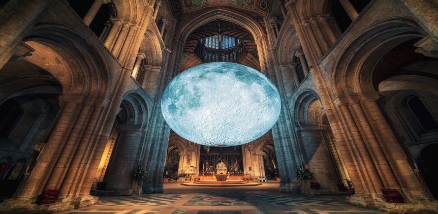 Museum of the Moon by Luke Jerram. Ely Cathedral, UK, 2019. Photo (c) James Billings (1)-L