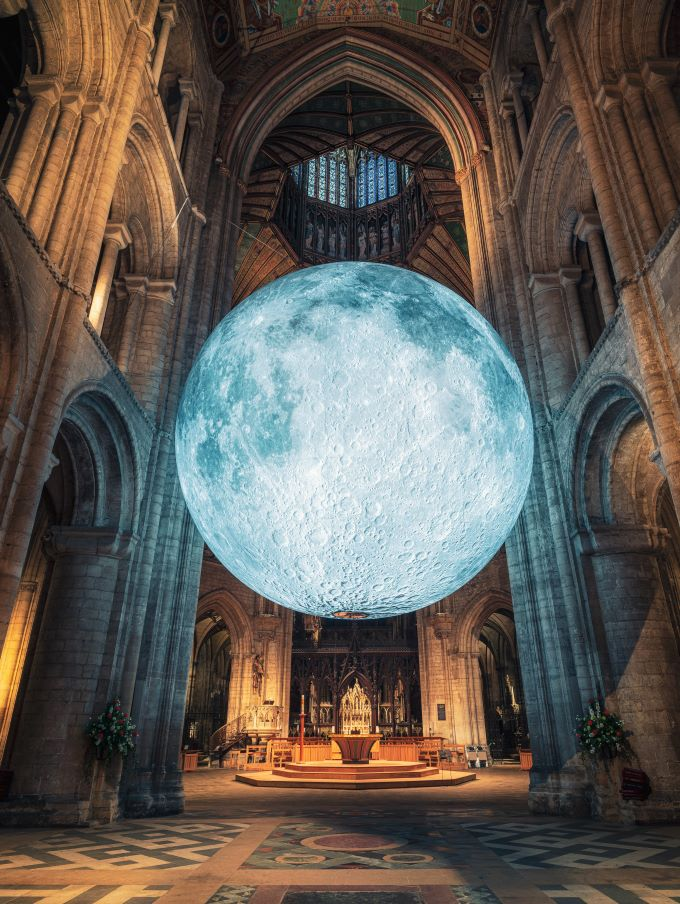 Museum of the Moon by Luke Jerram. Ely Cathedral, UK, 2019. Photo (c) James Billings (2)-P